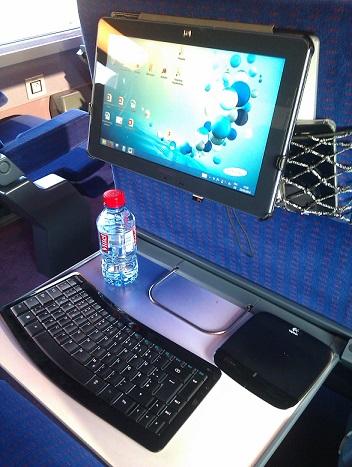 travailler dans le train