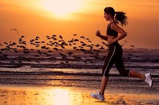 courir sur la plage