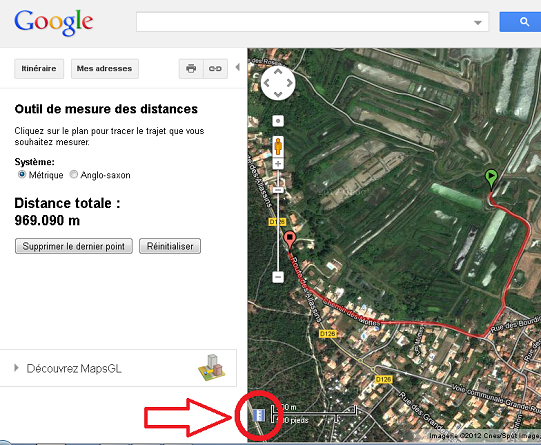 distances google map petit