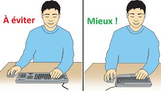 clavier ergonomique et douleur